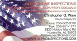 Chris Ware, home inspector, inspectors, inspections, Alabama, madison county, north alabama, marshall, limestone, lauderdale, cullman, dekalb, franklin, huntsville alabama home inspector, huntsville alabama home inspectors, home inspector huntsville alabama, home inspectors huntsville alabama, city of huntsville
